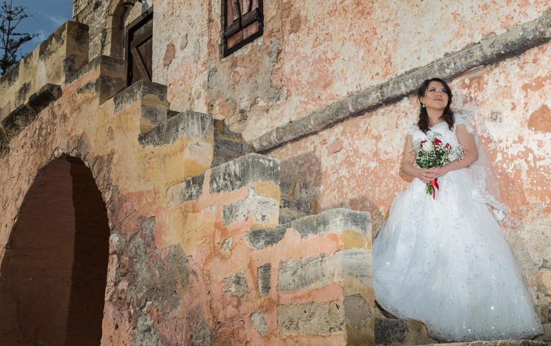 bride greece tower